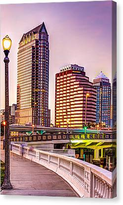 Downtown Tampa At Platt Street Canvas Print by Marvin Spates