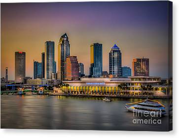 Downtown Tampa Canvas Print by Marvin Spates