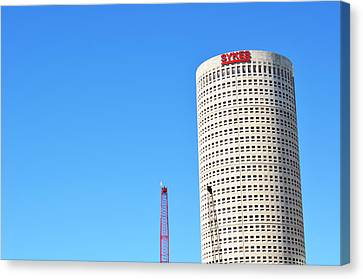 Downtown Tampa Photography - Leaning Tower Of Sykes - Sharon Cummings Canvas Print by Sharon Cummings