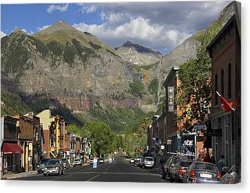 Downtown Telluride Colorado Canvas Print by Mike McGlothlen