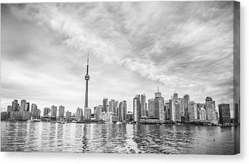 Canvas Print featuring the photograph Downtown Toronto Skyline by Anthony Rego