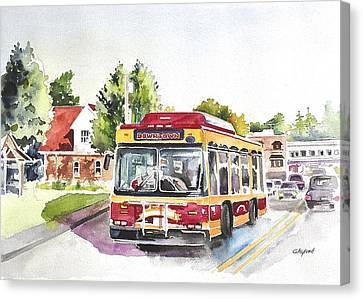 Downtown Trolley Canvas Print
