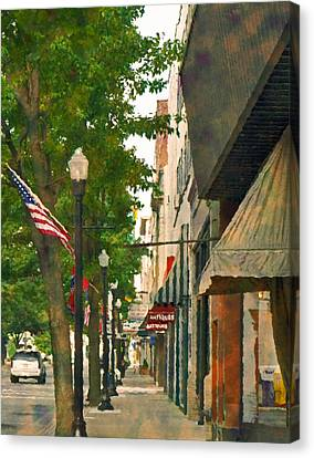 Downtown Usa Canvas Print by Denise Beverly