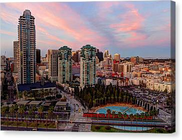 Canvas Print featuring the photograph Downtown View San Diego by Heidi Smith