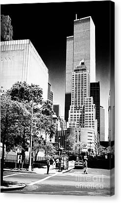 Downtown Views 1990s Canvas Print by John Rizzuto