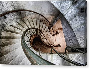 Canvas Print featuring the photograph Downward Spiral by Brent Durken