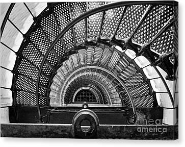 Downward Spiral Bw Canvas Print