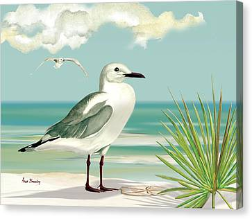 Downwind Canvas Print by Anne Beverley-Stamps