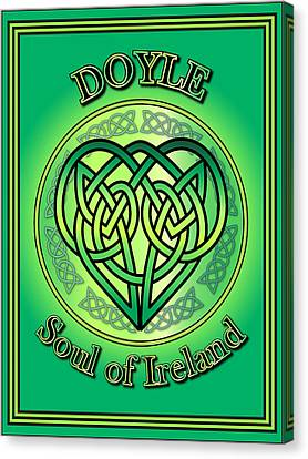Doyle Soul Of Ireland Canvas Print by Ireland Calling