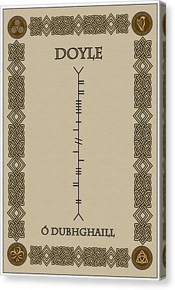 Canvas Print featuring the digital art Doyle Written In Ogham by Ireland Calling