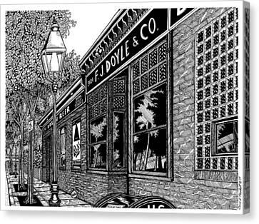 Doyles Cafe Canvas Print by Conor Plunkett
