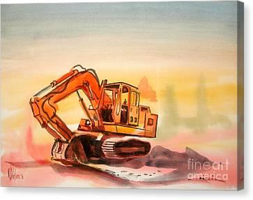 Dozer In Watercolor  Canvas Print by Kip DeVore