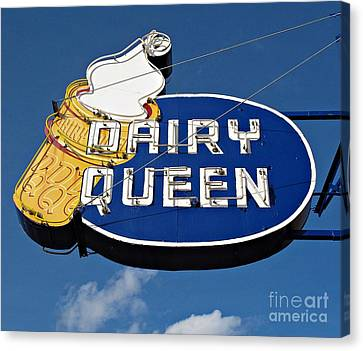 Dq Cone Sign Canvas Print by Ethna Gillespie