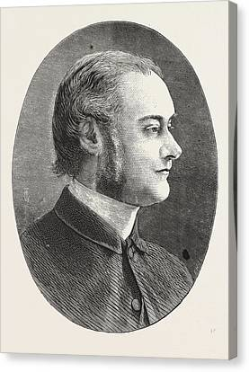 1876 Canvas Print - Dr. Carver, Head Master Of Dulwich College, Engraving 1876 by English School