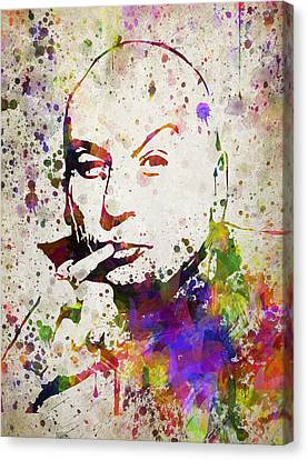 Dr Evil In Color Canvas Print by Aged Pixel