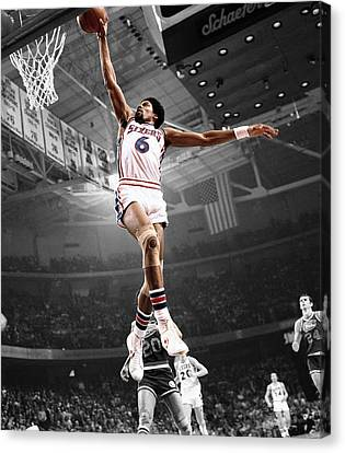 Julius Erving Canvas Print - Dr J by Brian Reaves