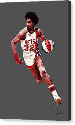 Julius Erving Canvas Print - Dr. J by Charley Pallos