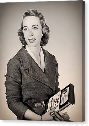 Publicity Shot Canvas Print - Dr Joyce Brothers 1959 by Mountain Dreams