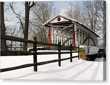Dr Knisely Covered Bridge Canvas Print