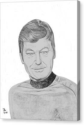 Dr. Leonard Mccoy Canvas Print