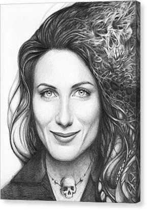 Dr. Lisa Cuddy - House Md Canvas Print by Olga Shvartsur