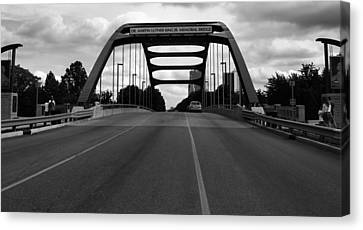 Dr. Martin Luther King Jr. Memorial Bridge  Canvas Print by Dan Sproul