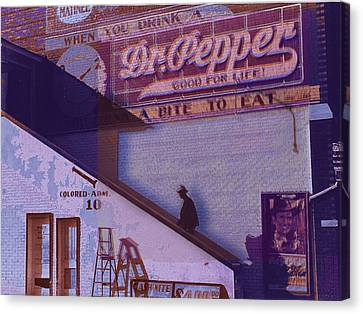 Dr Pepper Blues The Way It Was Canvas Print by Tony Rubino