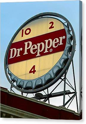 Canvas Print featuring the digital art Dr Pepper by Kara  Stewart
