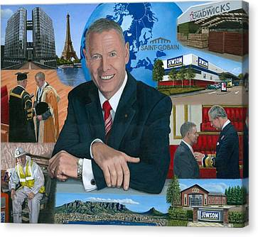 Dr Peter Hindle Mbe Canvas Print by Richard Harpum