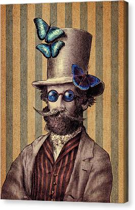 Moustache Canvas Print - Dr. Popinjay by Eric Fan