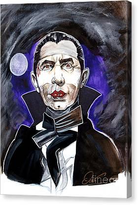 Horror Movies Canvas Print - Dracula Bela Lugosi by Dave Olsen