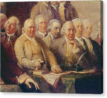Drafting The Declaration Of Independence, 28th June 1776, C.1817 Oil On Canvas Detail Of 702745 Canvas Print