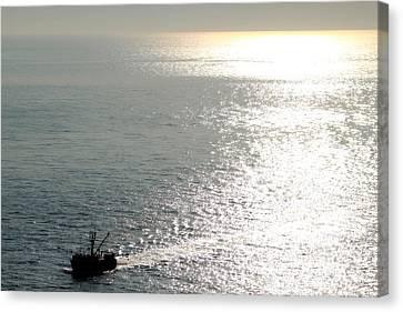 Dragging The Sea Behind Canvas Print by Deborah  Crew-Johnson