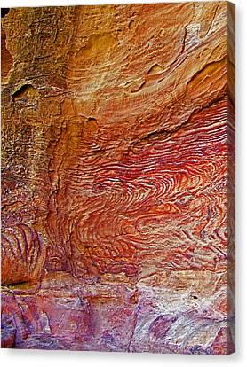 Dragon Breath Rock In Petra-jordan Canvas Print by Ruth Hager