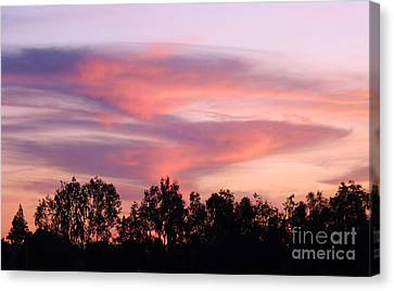 Canvas Print featuring the photograph Dragon Clouds by Meghan at FireBonnet Art