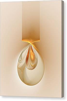 Canvas Print featuring the digital art Dragon Eggs Pendant by Richard Ortolano
