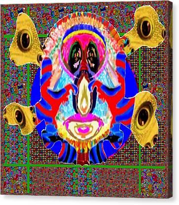 Dragon  Eyes N Monster Funny Face Cartoon Art By Navinjoshi  Canvas Print by Navin Joshi
