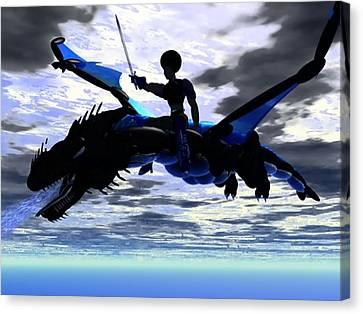 Dragon Fighter Canvas Print