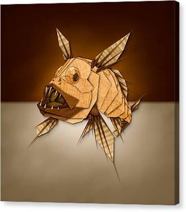 Dragonfish In Wood Canvas Print