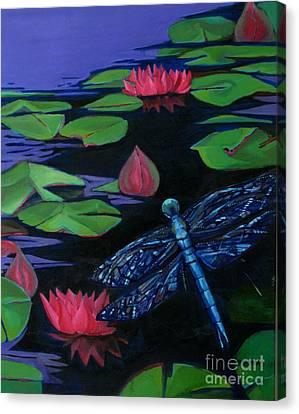 Dragon Fly - Botanical Canvas Print by Grace Liberator