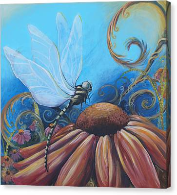 Dragon Fly Canvas Print by Coreen Wasilkoff