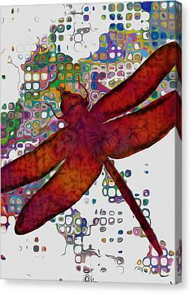 Ant Canvas Print - Dragonfly by Jack Zulli
