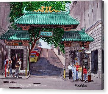 Dragon Gate Canvas Print by Mike Robles
