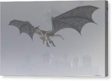Dragon In The Fog Canvas Print
