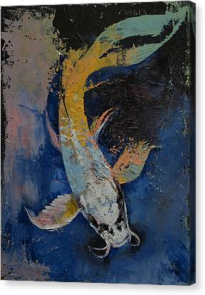 Dragon Koi Canvas Print by Michael Creese