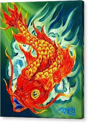Dragon Koi Canvas Print by The GYPSY And DEBBIE