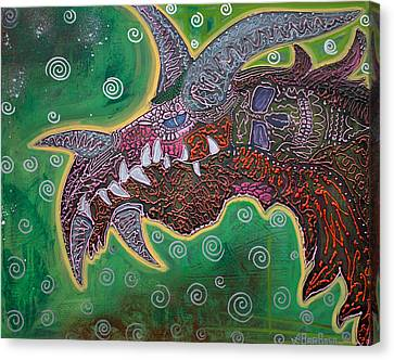 Dragon Canvas Print by Laura Barbosa