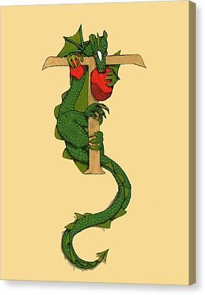 Dragon Letter T Canvas Print