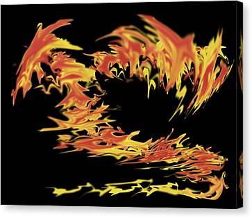 Dragon Canvas Print by Matthew Angelo