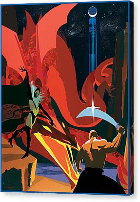 Dragon Slayer Canvas Print by Clifford Faust
